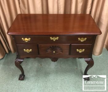 5965-1541 - Solid Mahogany Antique Lowboy