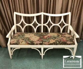 5965-1550 - PA House Cream Painted Chair-Back Settee