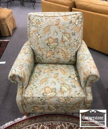 5965-1578 - Bassett Club Chair w Blue Linen Fabric