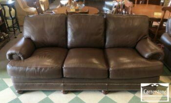 5965-1597 - Hancock & Moore Brown Leather Sofa