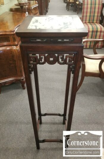 5965-1634-Tall Marble Top Plant Stand