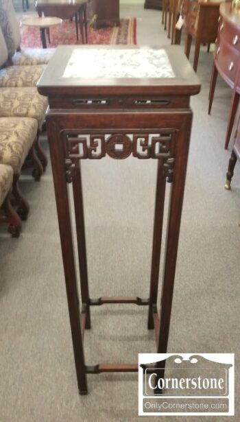 5965-1635-Tall Marble Top Plant Stand
