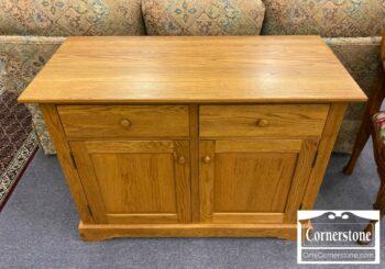5965-1639 - Solid Oak Console Cabinet