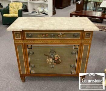 5965-1677-Drexel Heritage 3 Decorated 3Drw Chest