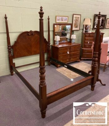 5965-1699-Mixed Wood Queen Poster Bed