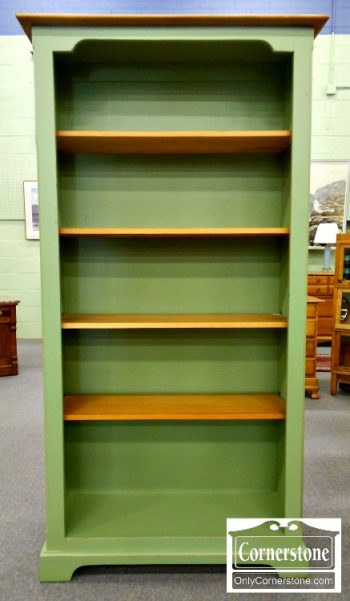 5965-173 Tall Green Painted Bookcase