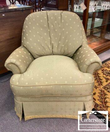 5965-1771-EA Swivel Club Chair Sage Green Fabric