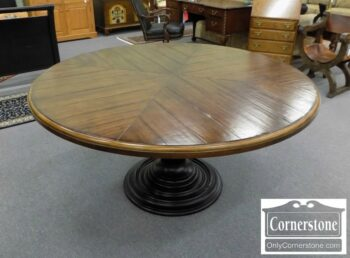 5965-1830-Century Furniture Round Rustic Dining Table