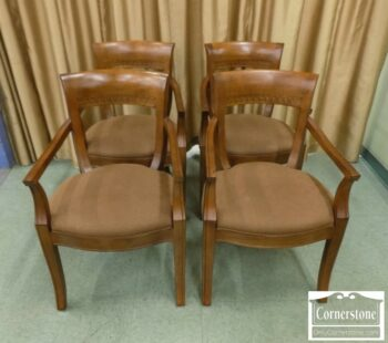 5965-1831-Set of 4 Century Furniture European Beech Dining Chairs