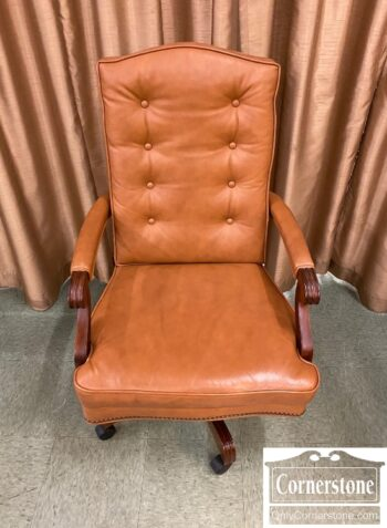 5965-1875-EA Tan Leather Exec Desk Chair
