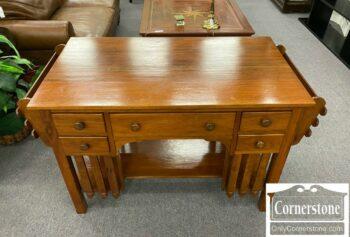 5965-1878-Solid Walnut Mission Type Desk
