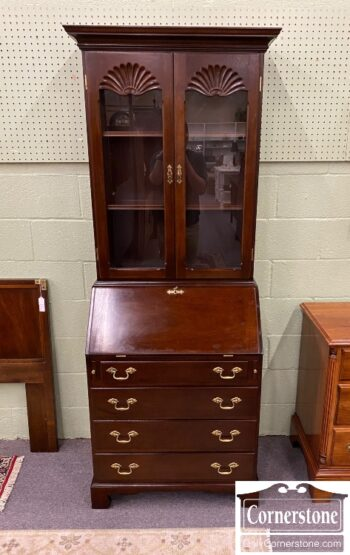 5965-1879 - Small Mahogany Secretary Desk