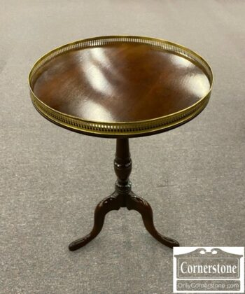 5965-1880-Round Mah Stand with Brass Gallery