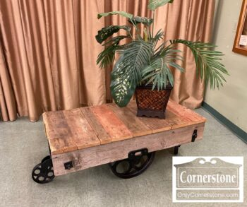 5965-1894 - Industrial Cart Coffee Table