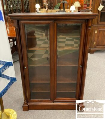 5965-1909 - Small Bookcase with Sliding Doors