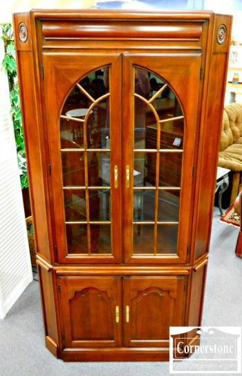 5965-192 Harden Solid Cherry Corner Cabinet