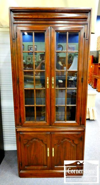 5965-194 Harden Solid Cherry Display Cabinet Bookcase