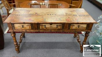 5965-1948 - Large Console with Asian Motif