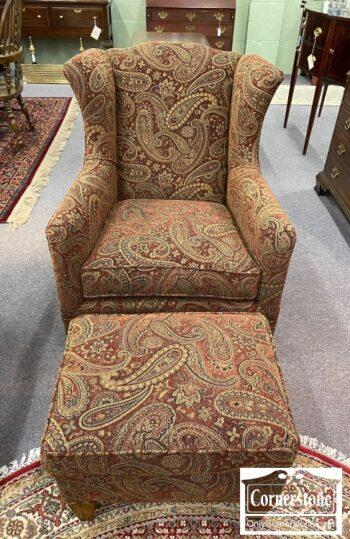 5965-1952 - Sam Moore Psly Club Chair w Ott
