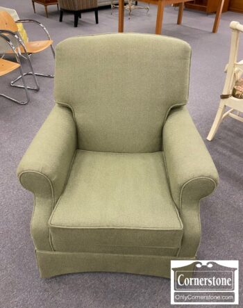 5965-1964 - Light Green Skirted Club Chair