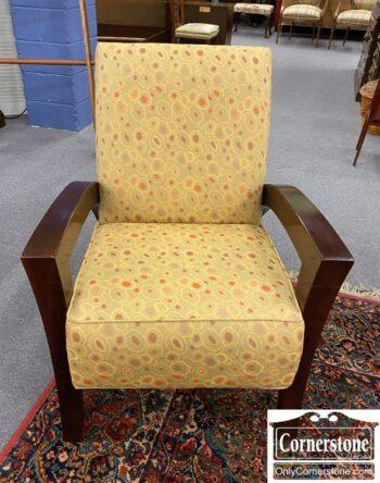5965-2042 - Modern Club Chair Wood Arms