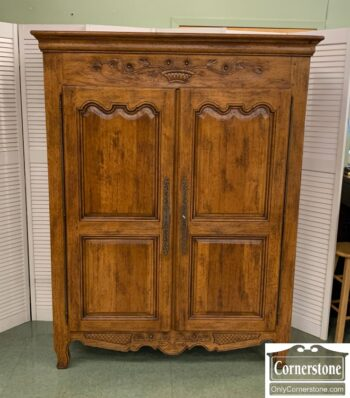 5965-2088 - Made in France 2 Dr Antique Armoire