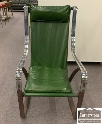 5965-2125 - Iron and Chrome Retro Chair