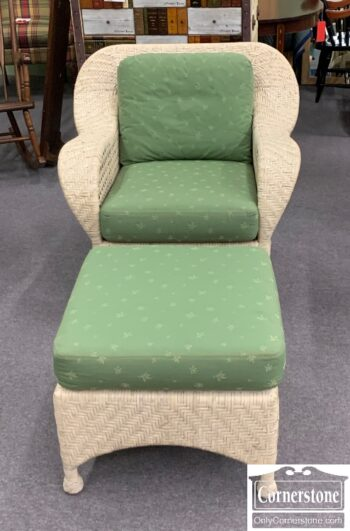 5965-2127 - McGuires Wicker Chair Ottoman
