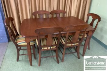 5965-2147 - Chochrane Furn Table 2Lvs 6 Chairs