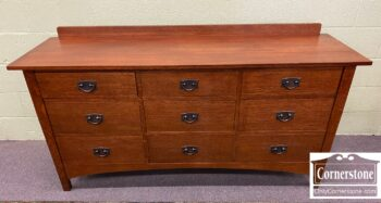 5965-2150 - Stickley Qtr Sawn Oak Mission Dresser