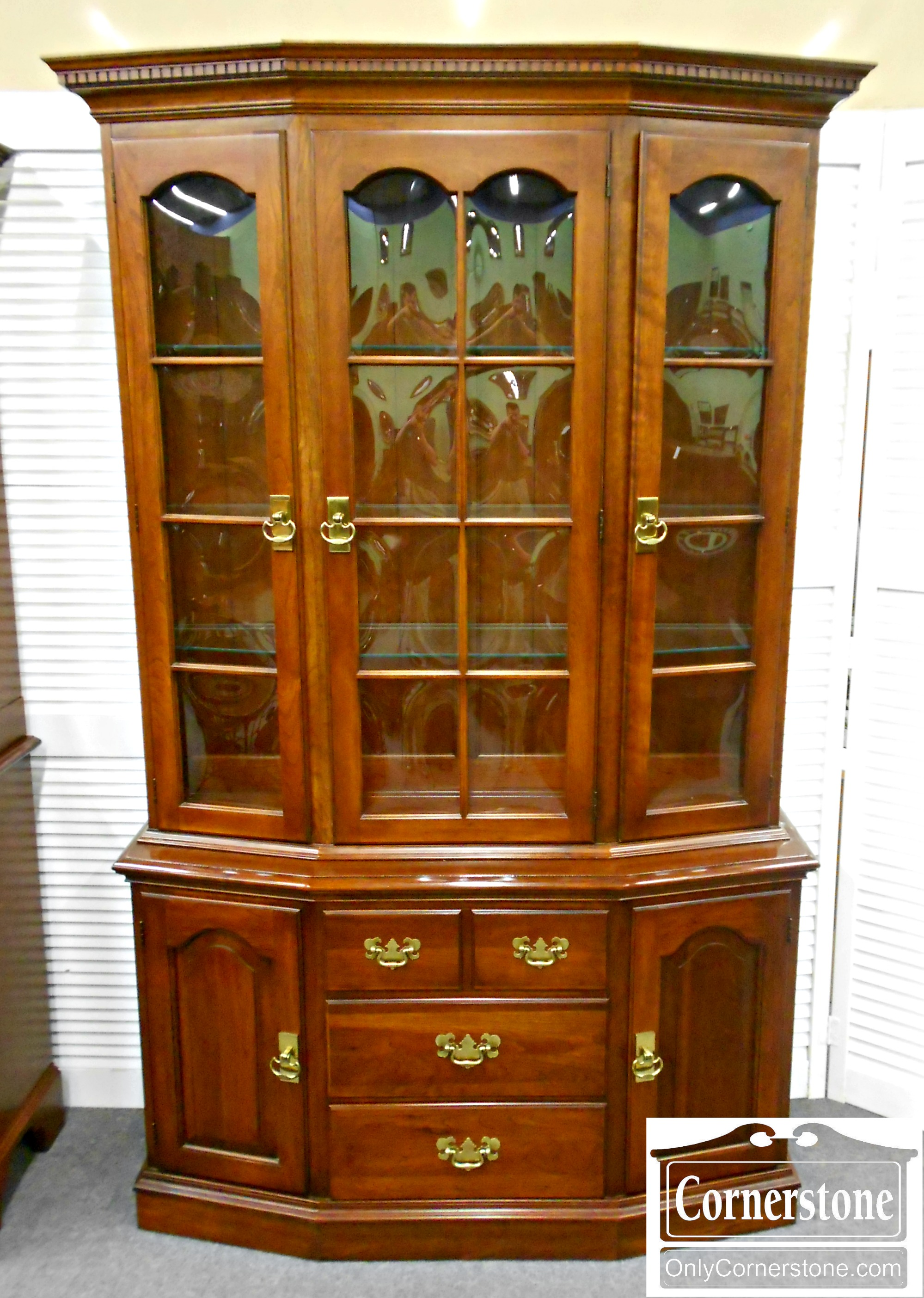 5965-22 PA House Cherry China Cabinet