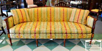 5965-221 Hickory Chair Mahogany Sheraton Style Inlaid Sofa