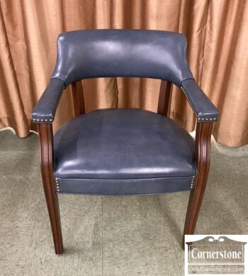 5965-2242 - Blue Vinyl Office Chair