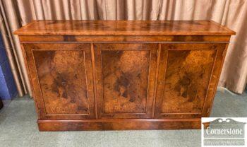 5965-2252 - Burled Wood Console Credenza