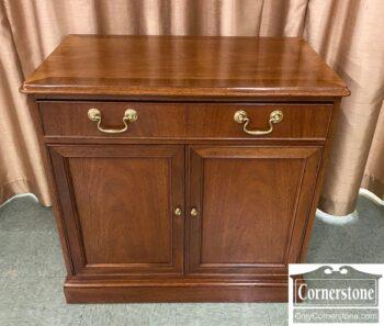 5965-2258 - Baker Banded Mah 1 Drw 2 Door Cabinet