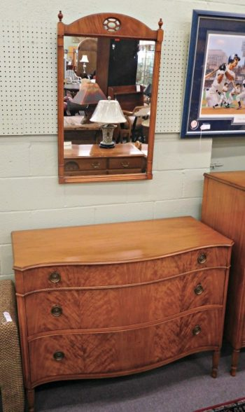 5965-231 Light Mahogany Dresser with Mirror