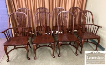 5965-2312 - Set of 8 Amish Sol Mah Dining Chairs