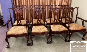 5965-2319 - 8 Sol Mah Ball and Claw Dining Chairs