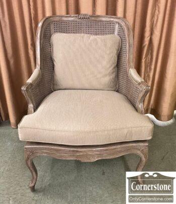 5965-2324 - Century Grey Club Chair Caning