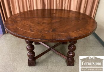 5965-2343 - Century Round Rustic Dining Table