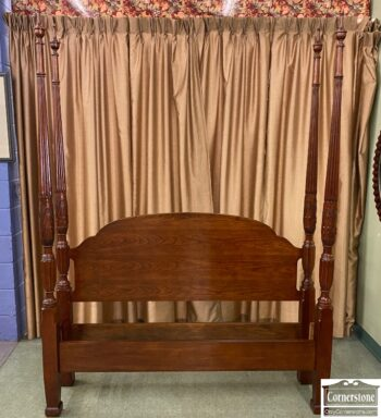 5965-2374 - Natl Mt Airy Q Rice Carved Poster Bed