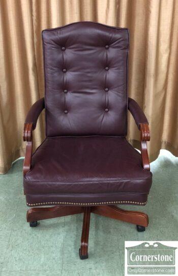 5965-2385 - EA Exec Desk Chair Burg Leather