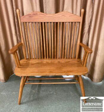 5965-2445 - Sol Oak Spindle Back Bench