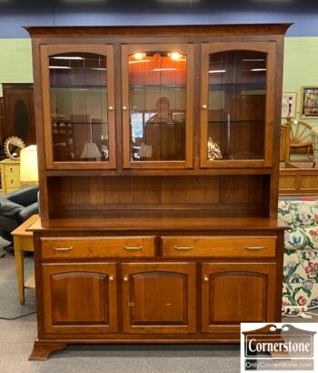 5965-2450 - Amish-Made Cont Display Cab Hutch