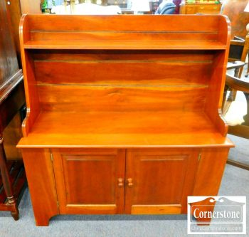 5965-247 Cabinet-Made Solid Cherry Bucket Bench
