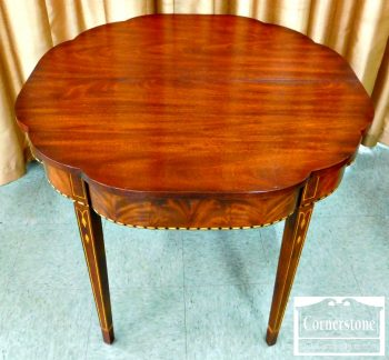 5965-251 Henkel Harris Inlaid Mahogany Myers Game Table-1