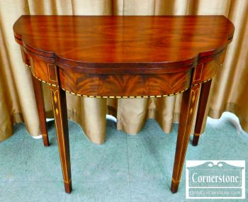 5965-251 Henkel Harris Inlaid Mahogany Myers Game Table-2