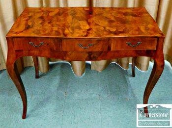 5965-269 Burled Wood Reidemeir Style Writing Desk