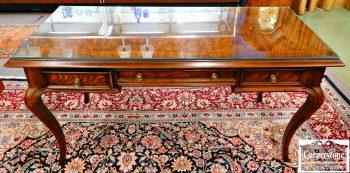 5965-270 Parquet Top Dark Oak Writing Desk