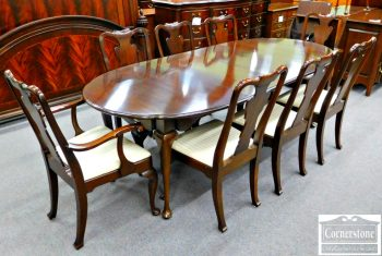 5965-275 Statton Solid Cherry Queen Anne Dining Table & Dining Chairs